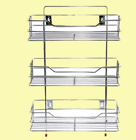 NEW CREATION Stainless Steel Multipurpose 3-Tier Kitchen Rack/Storage Shelf/Cutlery Storage Rack/Dish Rack/Storage Rack for Kitchen