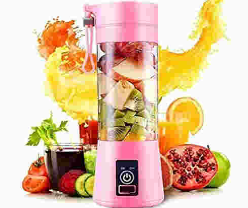 TIMESOON Portable Electric USB Juice Maker Juicer Bottle Blender Grinder Mixer,
