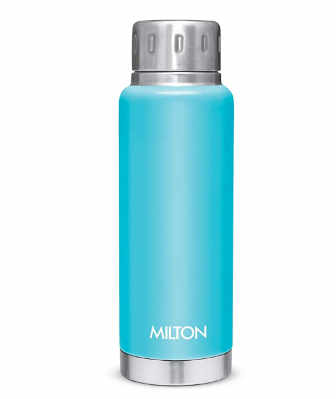 Milton Elfin 300 Thermosteel 24 Hours Hot and Cold Water Bottle, 300 ml, Light Blue