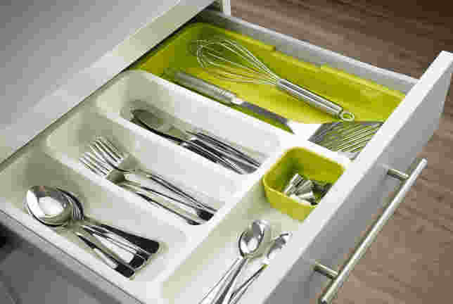 Anudas Expandable Cutlery Tray Plastic Drawer